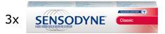 Sensodyne Classic zubna pasta bez fluorida, 3 x 75 ml