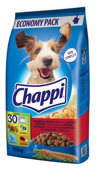 Chappi s hovězím a drůbežím masem 10 kg