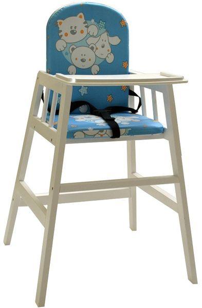 Dřevěná jídelní židlička Faktum Abigel, bílá