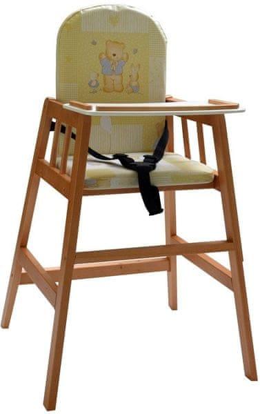 Dřevěná jídelní židlička Faktum Abigel, čajová