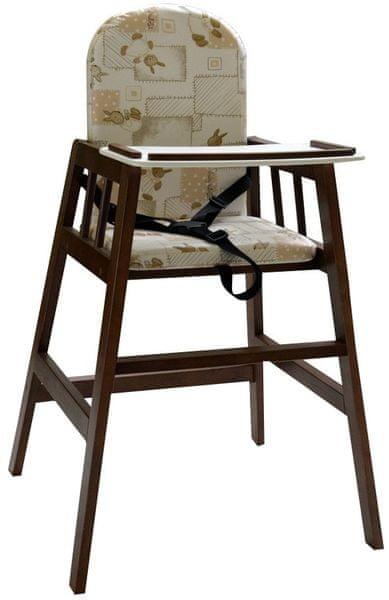 Dřevěná jídelní židlička Faktum Abigel, palisandr
