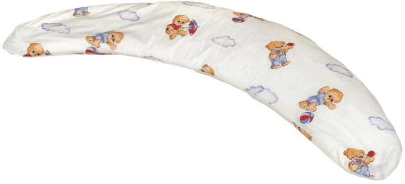 Kvalitex Polštář na kojení Milánek, Medvídek s deštníkem bílá