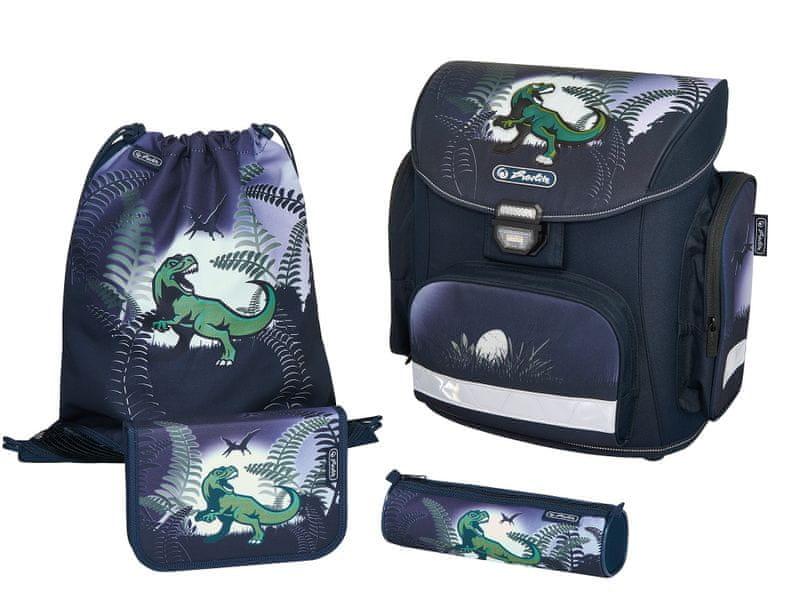 Herlitz Školní batoh set Midi Dinosaurus