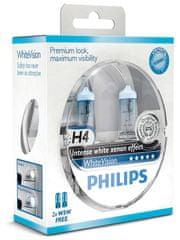 Philips WhiteVision H4, 12 V, 60/55 W, 2 ks