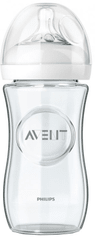 Avent steklenička SCF 673/17 Natural, steklena, 240 ml