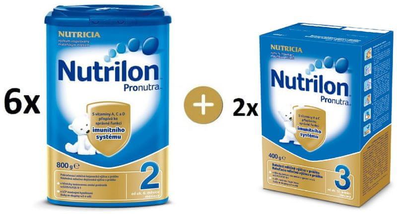 Nutrilon 2 Pronutra 6×800g + Nutrilon 3 Pronutra 2x400g