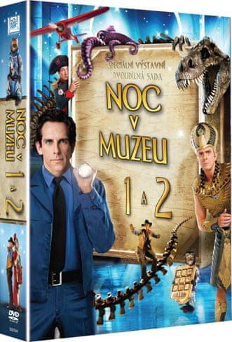 Noc v muzeu 1+2: kolekce (2DVD) - DVD