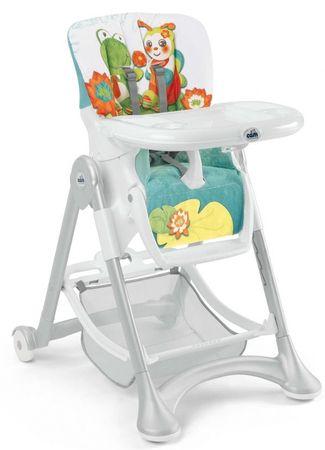 CAM stolček za hranjenje Campione, belo-modra