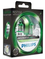 Philips ColorVision Zelená H4, 12 V, 60/55 W, 2 ks