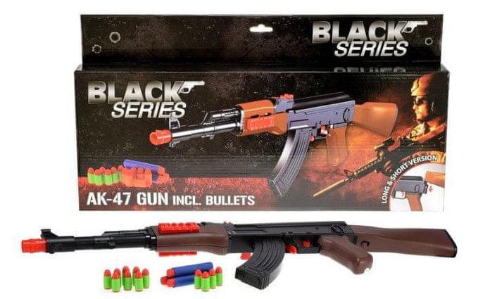Teddies Pistole s pěnovými náboji Black series AK-47