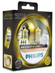Philips ColorVision Žlutá H4, 12 V, 60/55 W, 2 ks
