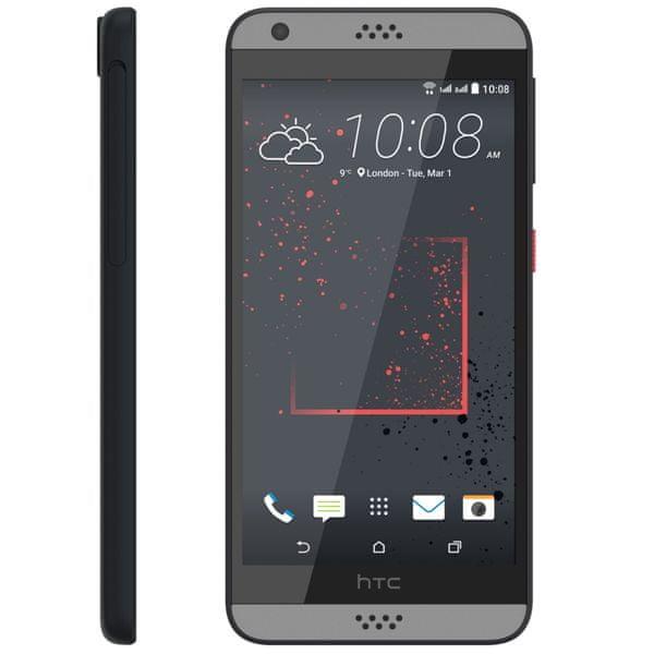 HTC Desire 630, Dual SIM, tamvě šedá