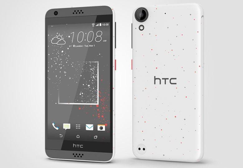 HTC Desire 630, Dual SIM, bílá