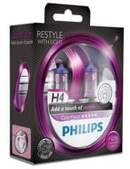 Philips ColorVision Fialová H4, 12 V, 60/55 W, 2 ks
