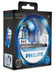 Philips ColorVision Modrá H4, 12 V, 60/55 W, 2 ks