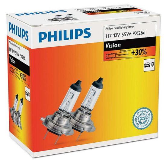 Philips avtomobilska žarnica Vision H7, 12 V, 55 W, 2 ks