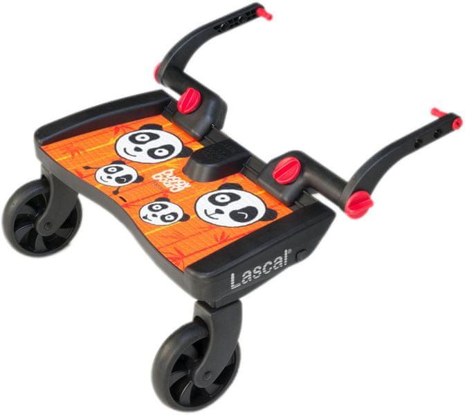 Lascal Buggy board MAXI - závěsné stupátko, Panda oranžová