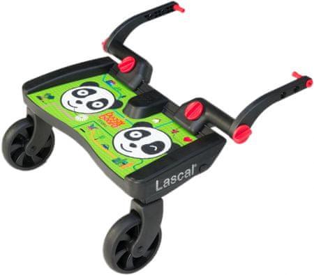 Lascal Buggy board MAXI - závěsné stupátko, Panda zelená
