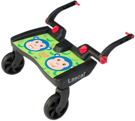 Lascal Buggy board MAXI- dostawka do wózka, zielone małpki