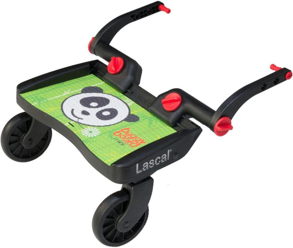Lascal Buggy board MINI - závěsné stupátko, Panda zelená