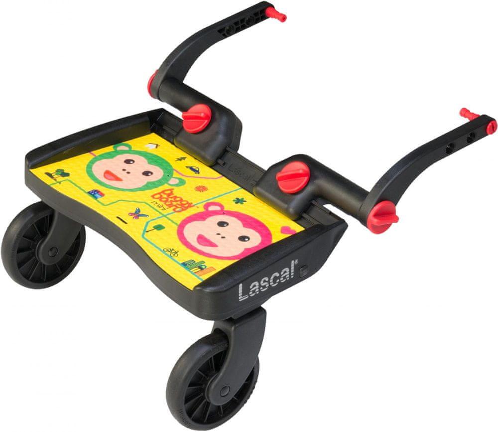 Lascal Buggy board MINI - závěsné stupátko, Monkey žlutá