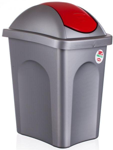 Stefanplast Odpadkový koš Multipat 30 l červená