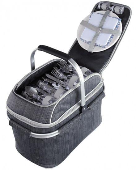 Livoo Piknikový kôš šedý