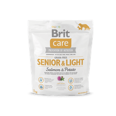 Brit Care Grain-free Senior&Light Salmon & Potato 1kg