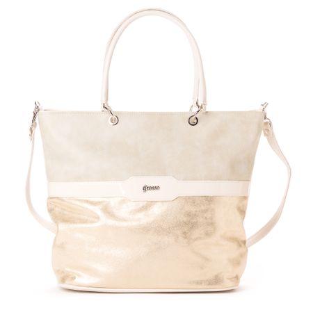 GROSSO BAG dámská béžová kabelka - Parametry  f7c0a6ecef0