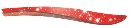 CS Solingen pinceta za depilacijo, svetlikajoča rdeča