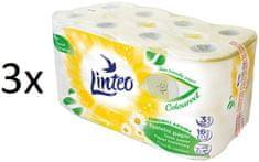 LINTEO Satin heřmánek Toaletní papír 3 x 16 rolí