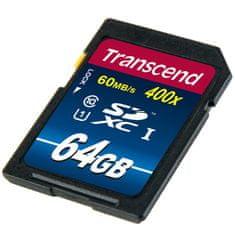 Transcend spominska kartica SDXC 64GB 400x (TS64GSDU1)