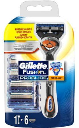 Gillette Fusion ProGlide Flexball brivnik + 6 rezilnih glav