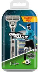 Gillette Mach3 Turbo Aloe holící strojek + 4 hlavice