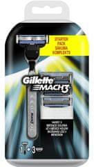 Gillette Mach3 holící strojek + 4 hlavice + držadlo zdarma