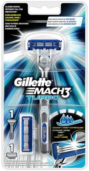Gillette Mach3 Turbo Holící strojek + 2 hlavice