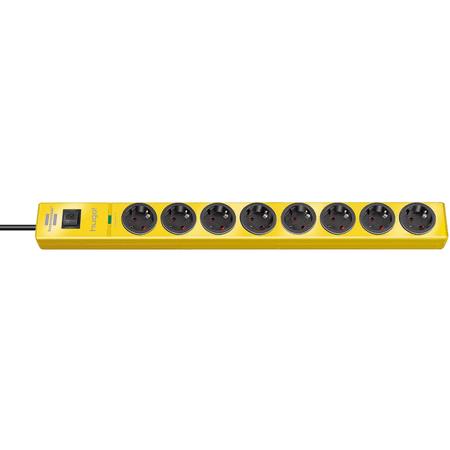 Brennenstuhl zaštita od prenapona Hugo! 8x 320V, 19.500A, žuta