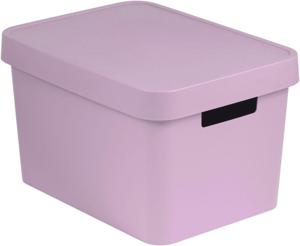Curver Úložný box s víkem Infinity 17 l růžová