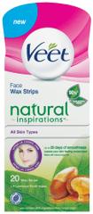Veet Natural Inspirations Voskové pásky na obličej Arganový olej 20 ks