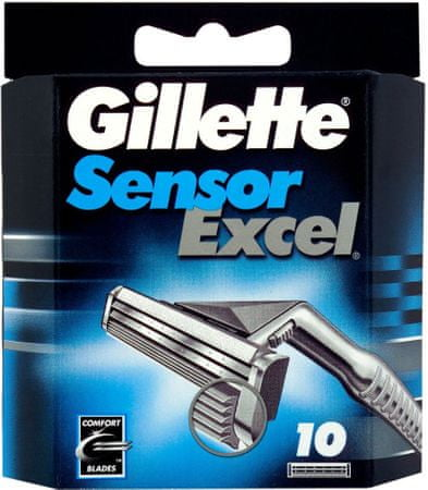 Gillette nadomestna rezila Sensor Excel, 10 kosov