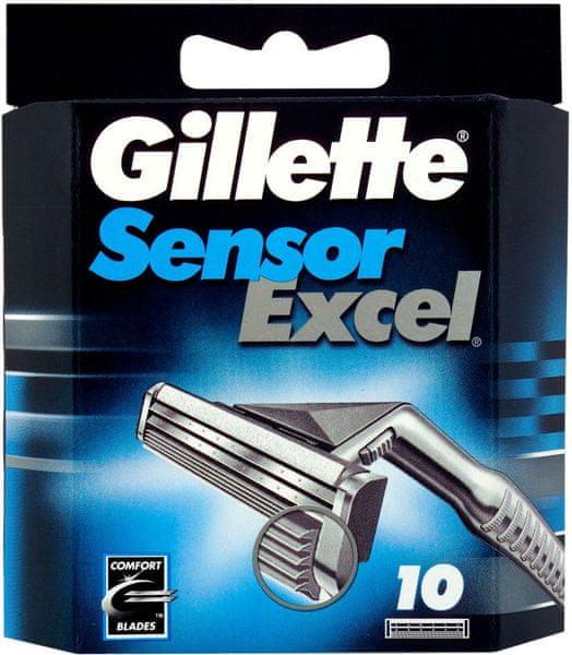 Gillette Sensor Excel náhradní hlavice 10 ks