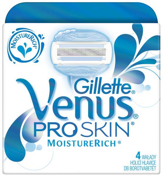 Gillette Venus ProSkin Moisture Rich náhradní hlavice 4 ks
