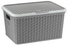 Kela škatla za shranjevanje s pokrovom Rio 25 L