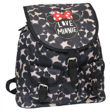 Minnie nahrbtnik Round Fashion, črn/bež