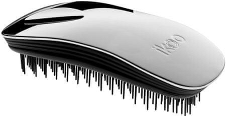 Ikoo krtača za lase Home Metallic, sreb./črna