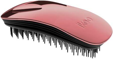 Ikoo krtača za lase Home Metallic, rdeče/črna