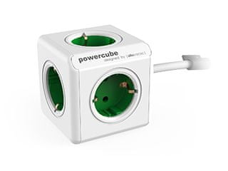 Allocacoc električni razdelilec PowerCube Extended, zelen