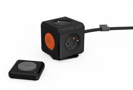 Allocacoc električni razdelilec PowerCube Remote, črn