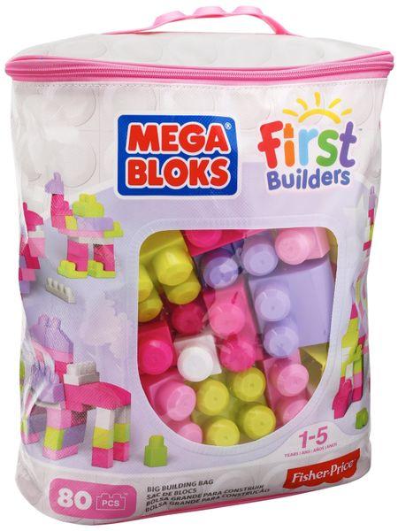 MEGA BLOKS Kostky v plastovém pytli holky, 80 kostek