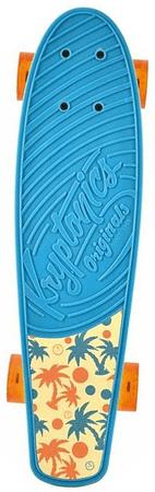 "Kryptonics longboard Torpedo 22.5"" Aqua Palms"